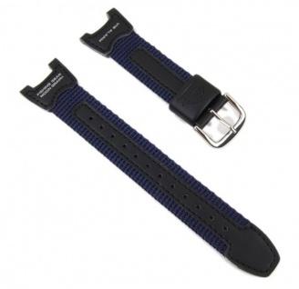 Casio Uhrenarmband Leder/Textil Band für Herrenuhr PRS-400B-2