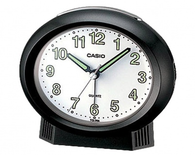 Casio Analog Wecker Beep Alarm mit Light schwarz 20860