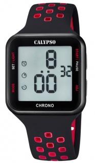 Calypso Armbanduhr Quarz Kunststoff Alarm Stoppfunktion Timer digital K5748/5