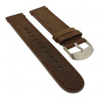 Timex Expedition Ersatzband 20mm aus Leder in braun mit Naht ? TW4B06400