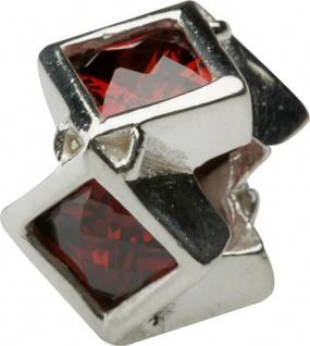Charlot Borgen Marken Damen Bead Beads Drops Silber mit Zirkonia SCZ-17-Rot