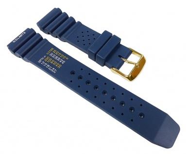 Silikon Sport Uhrenarmband Silikon Band Blau 22331G