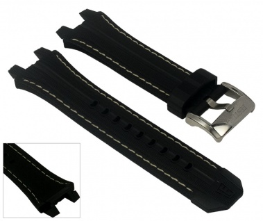 Festina Uhrenarmband Kautschuk Band schwarz/weiss 23mm für F16350/2