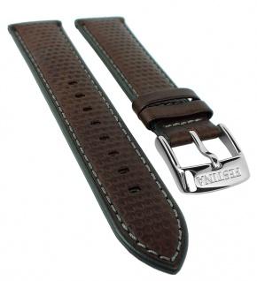 Festina Uhrenarmband Leder Band braun mit grauer Naht 22mm für Modell F20202/3