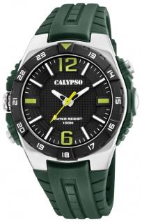 Calypso analoge Herrenuhr | mehrfarbig Kunststoff Gehäuse-, & Band > Wasserdicht K5778/2