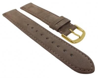 Herzog Sylt Uhrenarmband Veloursleder | Ersatzband verfügbar in - braun