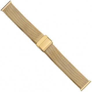 Uhrenarmband Edelstahl Milanaise Band 20mm PVD-Gelbgold 21222G