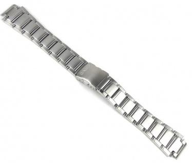 Casio Uhrenarmband Edelstahl Band Silberfarben für EFA-120D EFA-120