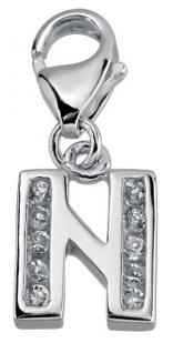 Minott Charms Anhänger Buchstabe N mit Zirkonia 925/-Silber CMM105-N