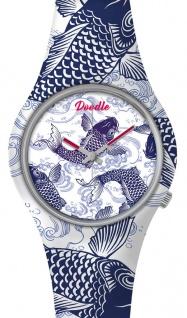 DOODLE WATCH ? Armbanduhr für SIE Ø 39mm | Silikonband > Koi-Karpfen > DOOR003