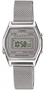 Uhr Casio Collection Retro Digital Edelstahl silberfarben LA690WEM-7EF