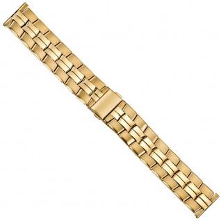 Minott Uhrenarmband Edelstahl Band 20mm PVD-Gelbgold 21218G
