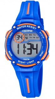 Calypso Digital Crush Kinderuhr digital PU-Band Armbanduhr blau Kunststoff Quarzuhr K6068/3 K6068 - Vorschau