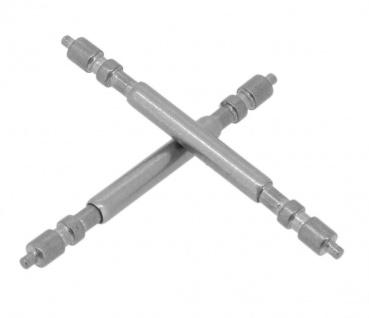Minott Stifte 2x Uhrenstifte Federstege Teleskopstifte Ø 1, 8mm x 20mm silbern passend zu RLX 34742