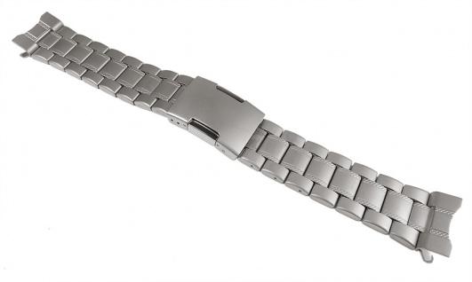 Timex Adventure Series Uhrenarmband Edelstahl Band Grau mattiert für T2P289