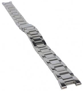 Casio Armband | Uhrenarmband Edelstahl Band Silberfarben für Collection LTP-1293D