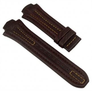 Lotus Ersatzband Uhrenarmband Leder Band 18mm Dunkelbraun/Gelb für L15502 L15507