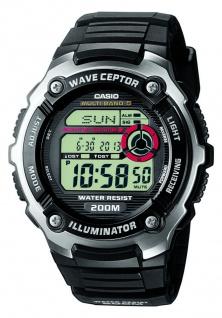 Casio Wave Ceptor Funkuhr Herrenuhr digital schwarz WV-200E-1AVEF