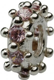 Charlot Borgen Marken Damen Bead Beads Drops Silber mit Zirkonia SCZ-07-Rosa