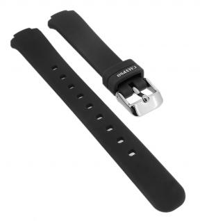 Calypso Ersatzband aus Silikon in schwarz mit Schließe silberfarben Spezial Anstoß -> K6069/6