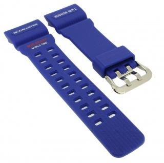 Casio G- Shock Mudmaster Ersatzband blau Resin Band Schließe silberfarben GG-1000TLC-1A