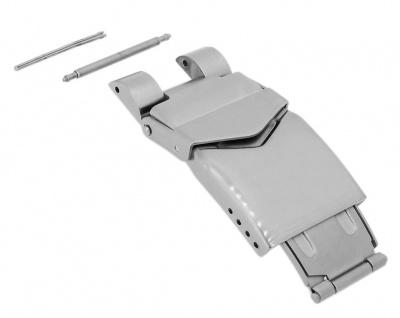 Minott Ersatzschließe 20mm Edelstahl Faltschließe silberfarben matt / gebürstet passend für 24317