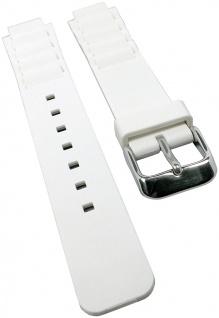 Ersatzband für Casio Collection Damenuhrarmband aus Resin weiß LTP-1326