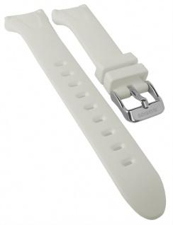 Calypso Uhrenarmband weiß Band aus Kunststoff mit Breitdornschließe K5741/1