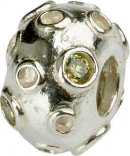 Charlot Borgen Marken Damen Bead Beads Drops Silber mit Zirkonia SCZ-14-Grün