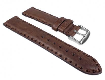 Arezzo Uhrenarmband Leder Band Braun mit Ziernaht 24868S