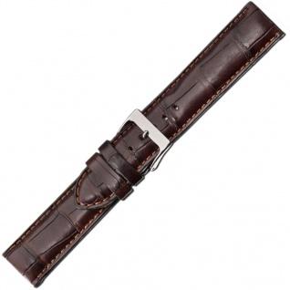 Herzog Kroko-Sport Ersatzband 20mm Uhrenarmband Leder braun Krokoleder Band IRV Zertifikat