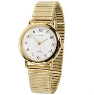 Armbanduhr | Quartzuhr aus Edelstahl | Zugband & Gehäuse > goldfarben | Ø 34mm 19077