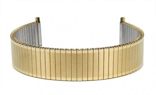 Flexband Zugband Ersatzband Edelstahl IP Gelbgold 18mm - 20mm 18340G