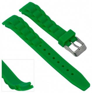 s.Oliver Uhrenarmband Silikon Band 17mm grün weich SO-2569-PQ