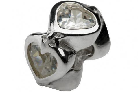 Charlot Borgen Marken Damen Bead Beads Drops Silber mit Zirkonia SCZ-16-Weiß