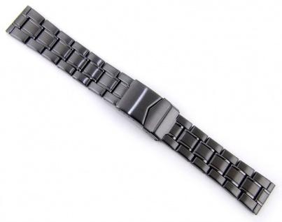 Minott Uhrenarmband Edelstahl Band PVD schwarz 20mm 21137B
