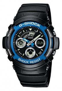Casio G-Shock Digital-Analog Herrenuhr AW-591-2AER in schwarz mit Weltzeit Funktion