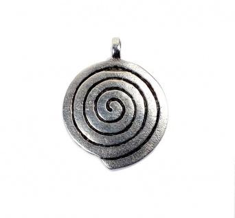 Minott Anhänger Spiralmuster Medallion Messing, versilbert 13465