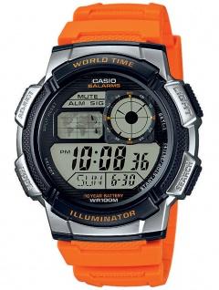 Casio Collection Herrenuhr Resin Uhr Digitaluhr orange silbern AE-1000W-4BVEF