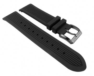 Hugo Boss Uhrenarmband Silikon Band schwarz 22mm für 1512953