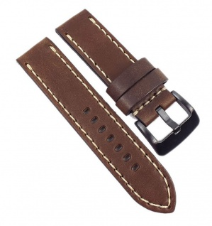 Hunter Vintage Uhrenarmband Leder Braun Fliegerband Optik 21665