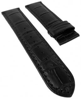 Jaguar Uhrenarmband Leder schwarz in Kroko-Optik für J661 J663 J866