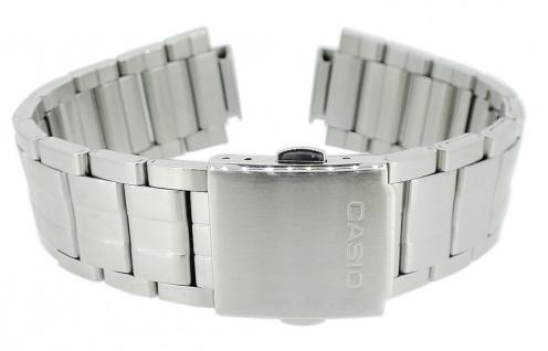 Casio Armband Ersatzband Edelstahl Band Silberfarben für Collection MTP-1298D