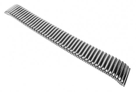 Minott Flex Uhrenarmband Edelstahl Zugband Silberfarben glänzend 22853S