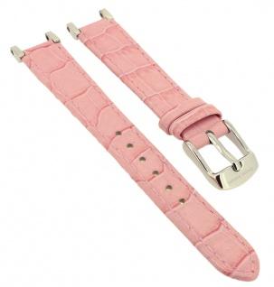 Bruno Banani Ersatzband 11mm rosa Leder Naht mit Schließe silberfarben CD3057