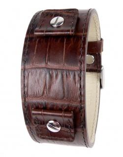 Minott Uhrenarmband Rindsleder Band Braun mit Wechselanstoß 18mm 20mm 22mm 24mm