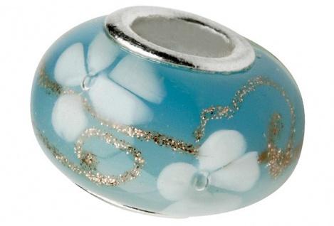 Charlot Borgen Marken Damen Bead Beads Drops Kristallglas Silberkern GPS-58Türkis