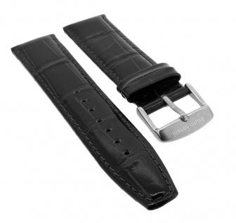 Bruno Banani Chronograph ? Ersatzband 21mm aus Leder in schwarz Kroko Optik ? 164225 CD1003