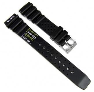 Minott Uhrenarmband Taucherband Ersatzband Kunststoff Band 27142S