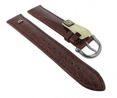 XL Ersatzband Maurice Lacroix Louisiana echt Kroko Leder mit Symbol braun 27657